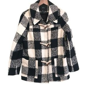 NWT Forever 21 Premium Buffalo Check Plaid Coat
